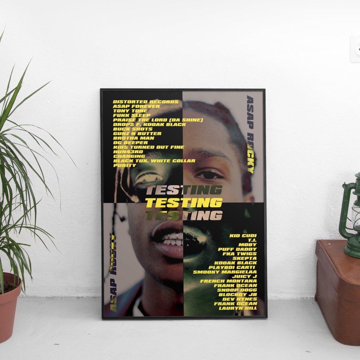 ASAP Rocky - Testing Poster