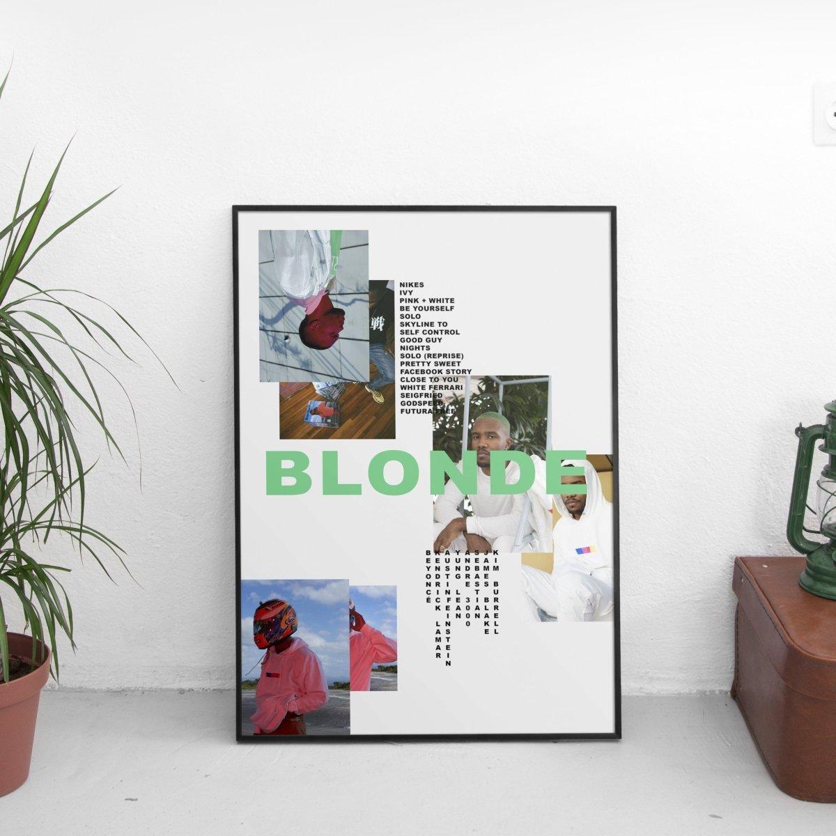 Frank Ocean - Blonde Mismatch Poster