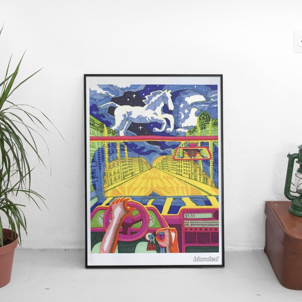 Frank Ocean - Blonded Acid Poster