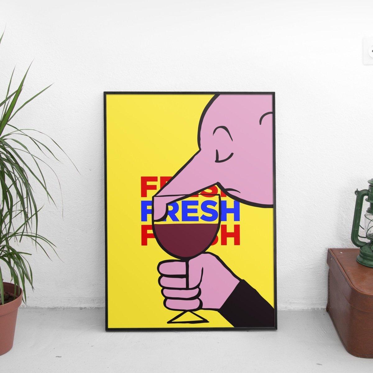 Fresh Wine Poster