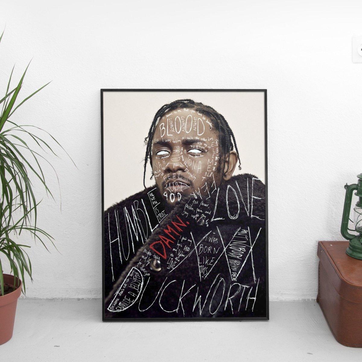 Kendrick Lamar - Damn Scribble Poster