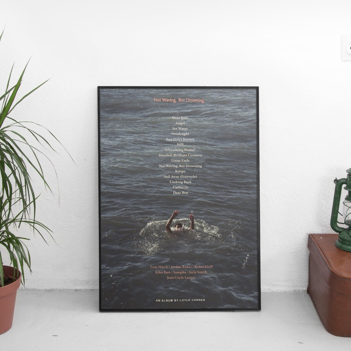 Loyle Carner - Not Waving, But Drowning Poster