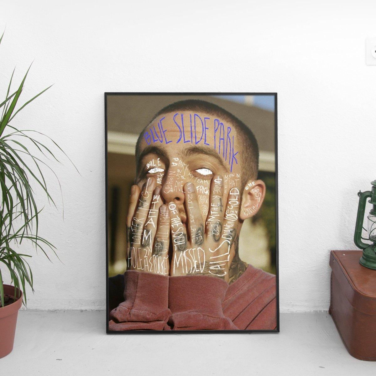 Mac Miller - Blue Slide Park Scribble Poster