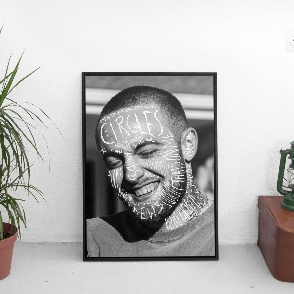 Mac Miller - Circles Scribble Poster