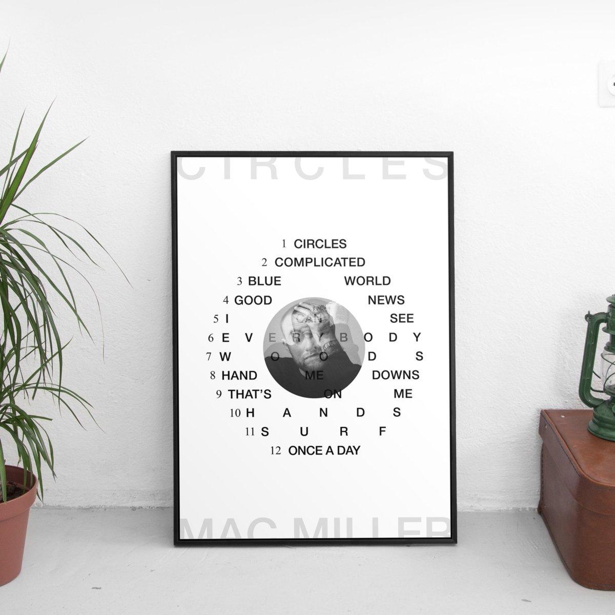 Mac Miller - Circles Tracklist Poster