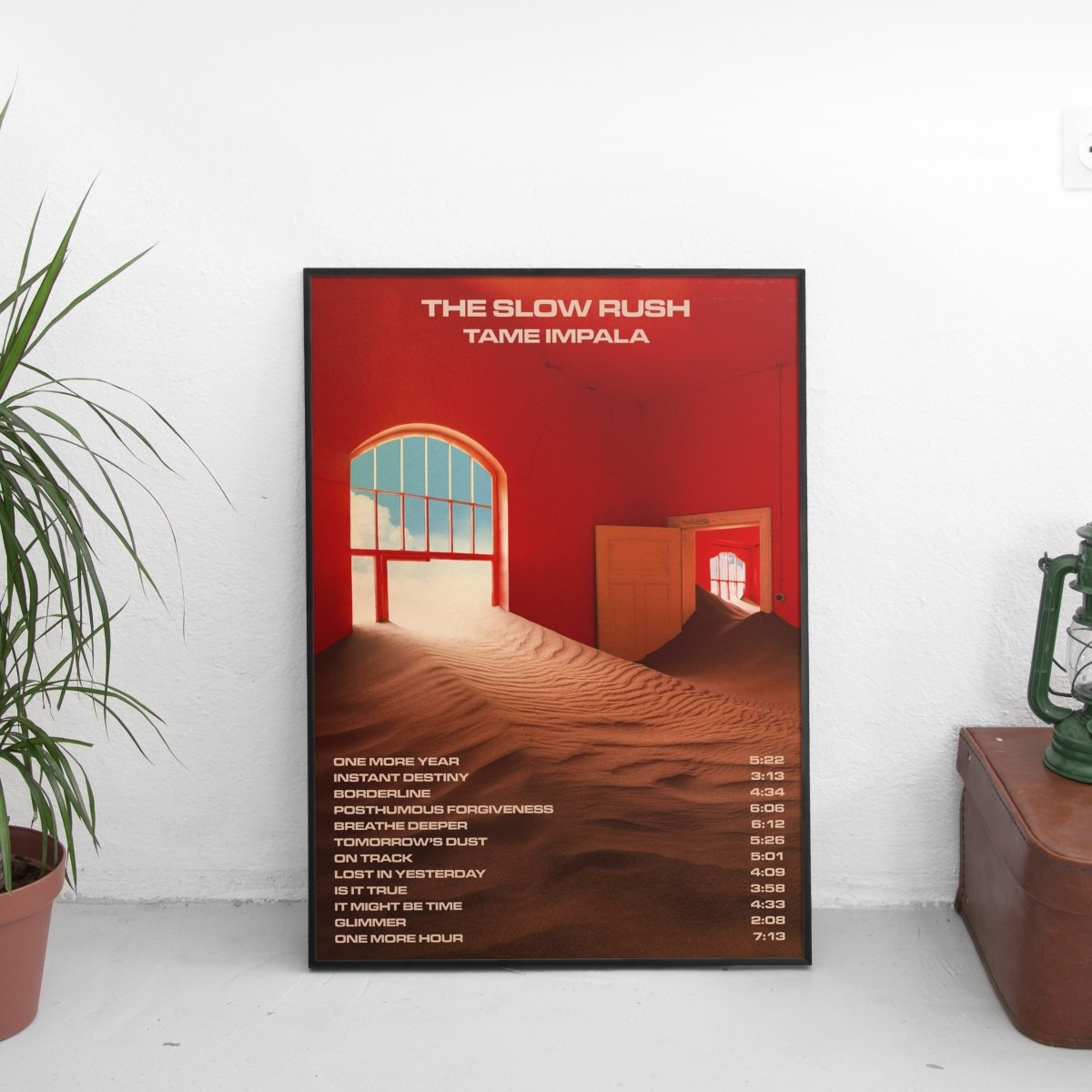 Tame Impala - The Slow Rush Tracklist Poster