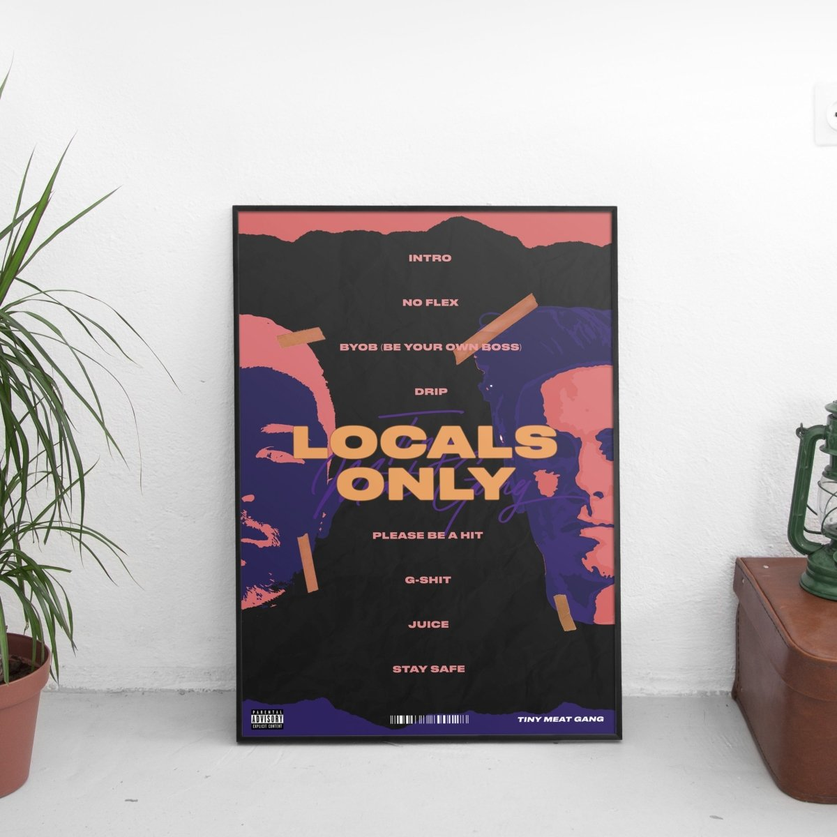 Tiny Meat Gang (TMG) - Locals Only Poster