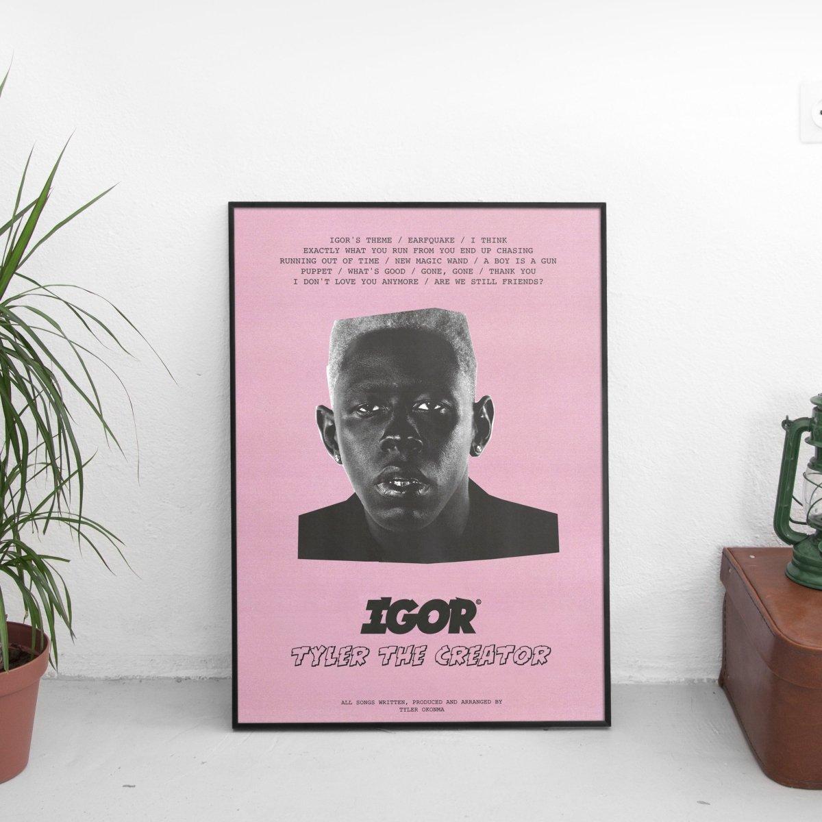 Tyler The Creator - Igor Tracklist Poster