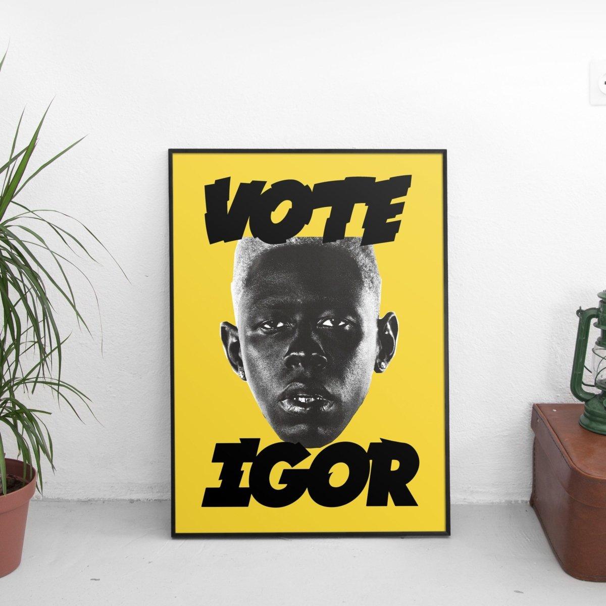 Tyler The Creator - Vote Igor Poster Yellow