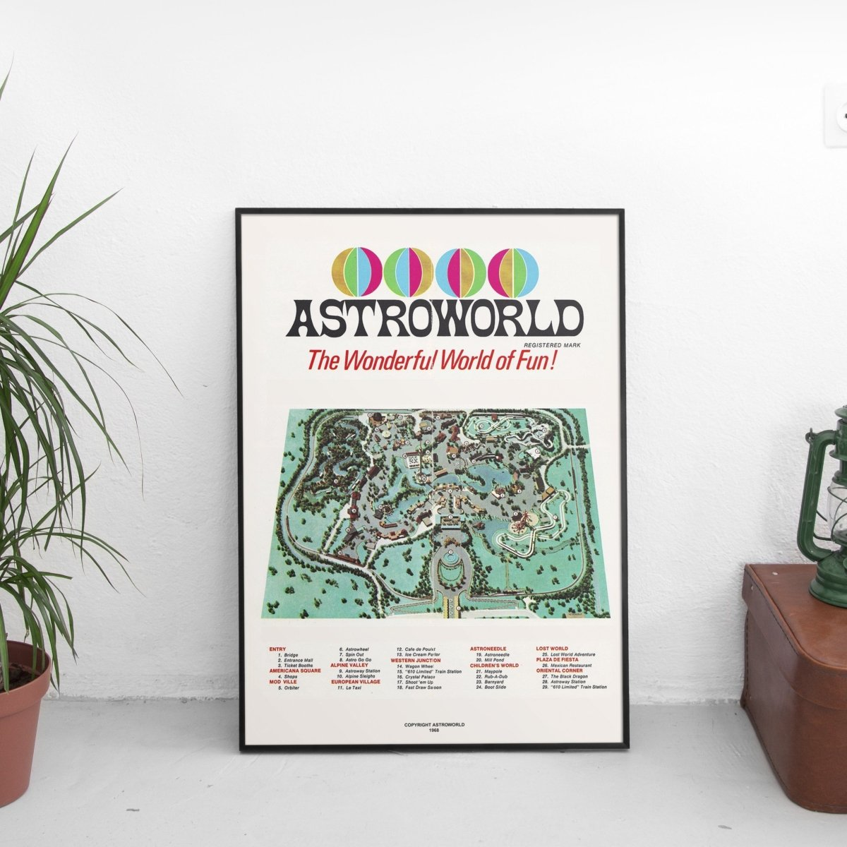 Vintage Astroworld Poster