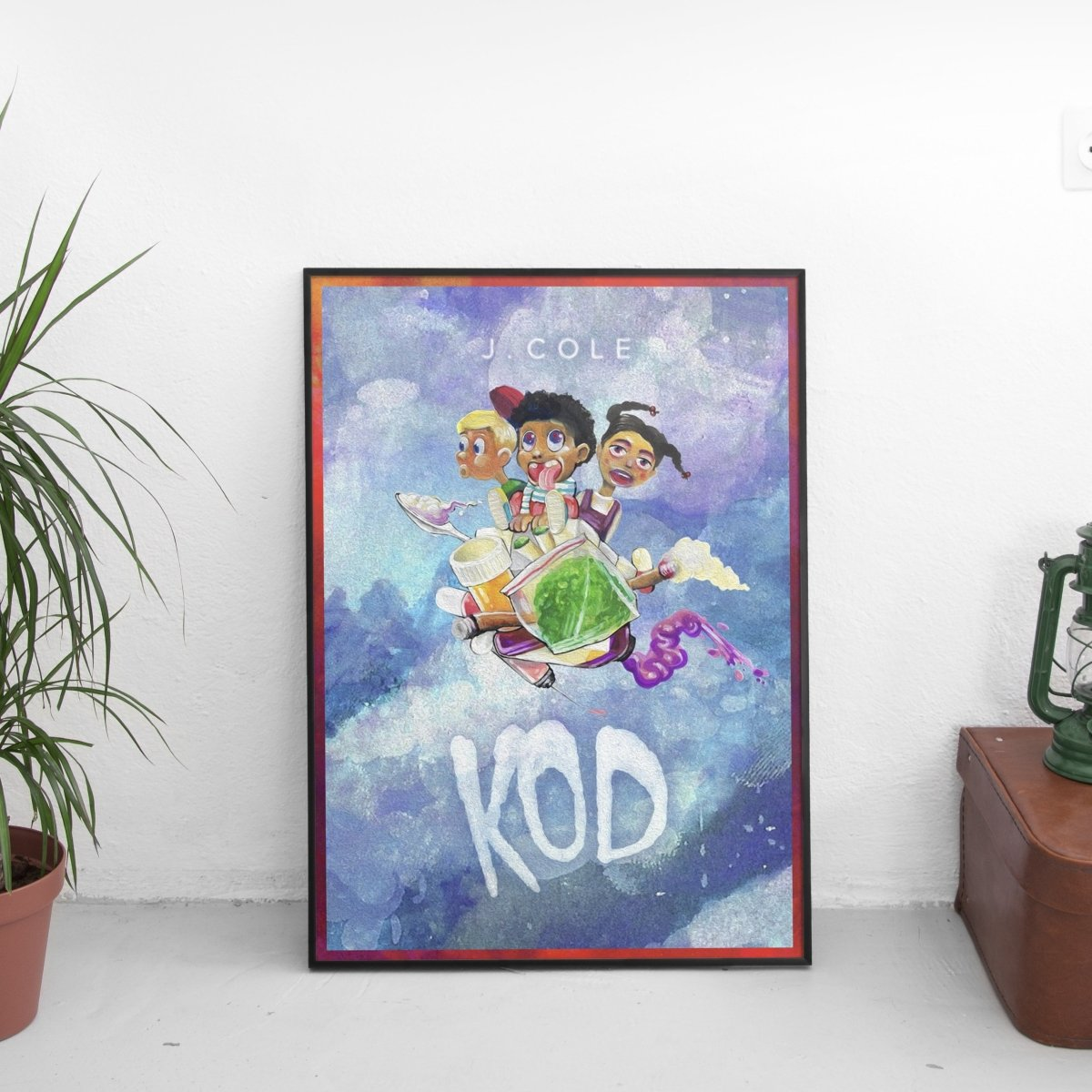 J Cole - KOD Kids Poster