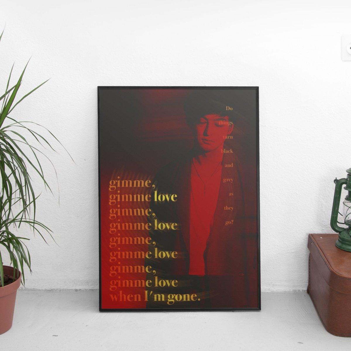 Joji - Gimme Love Lyrics Poster