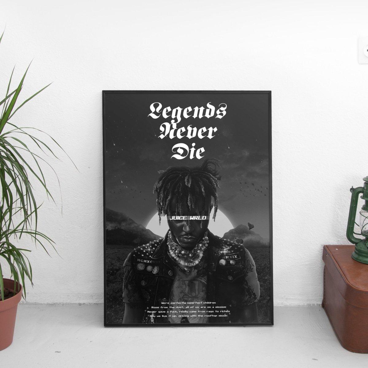 Juice Wrld - Legends Never Die Alternative Quote Poster