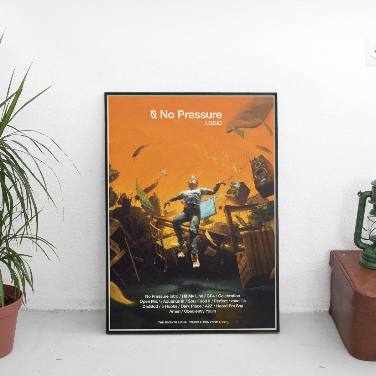 Logic - No Pressure Tracklist Poster