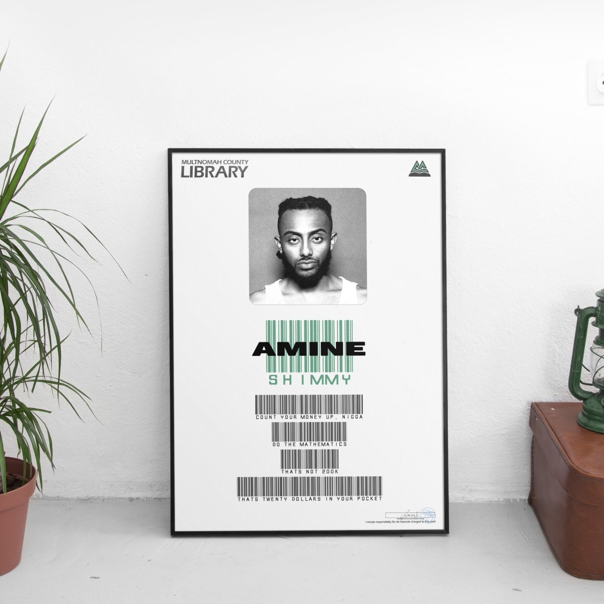 Amine - Shimmy Card Poster