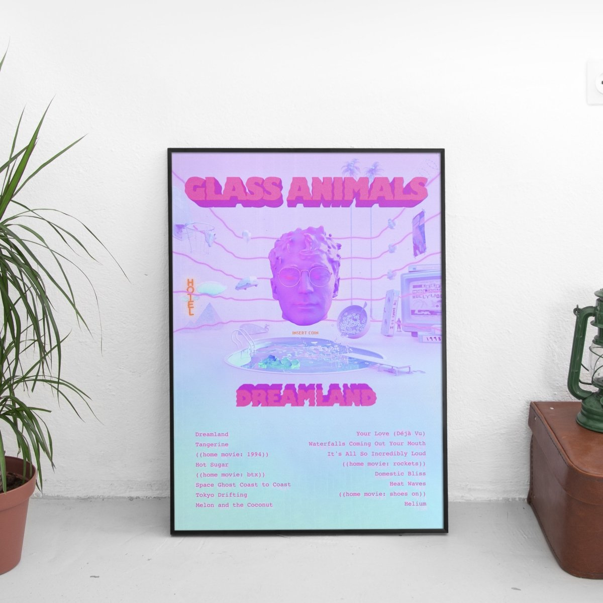 Glass Animals - Dreamland Tracklist Poster