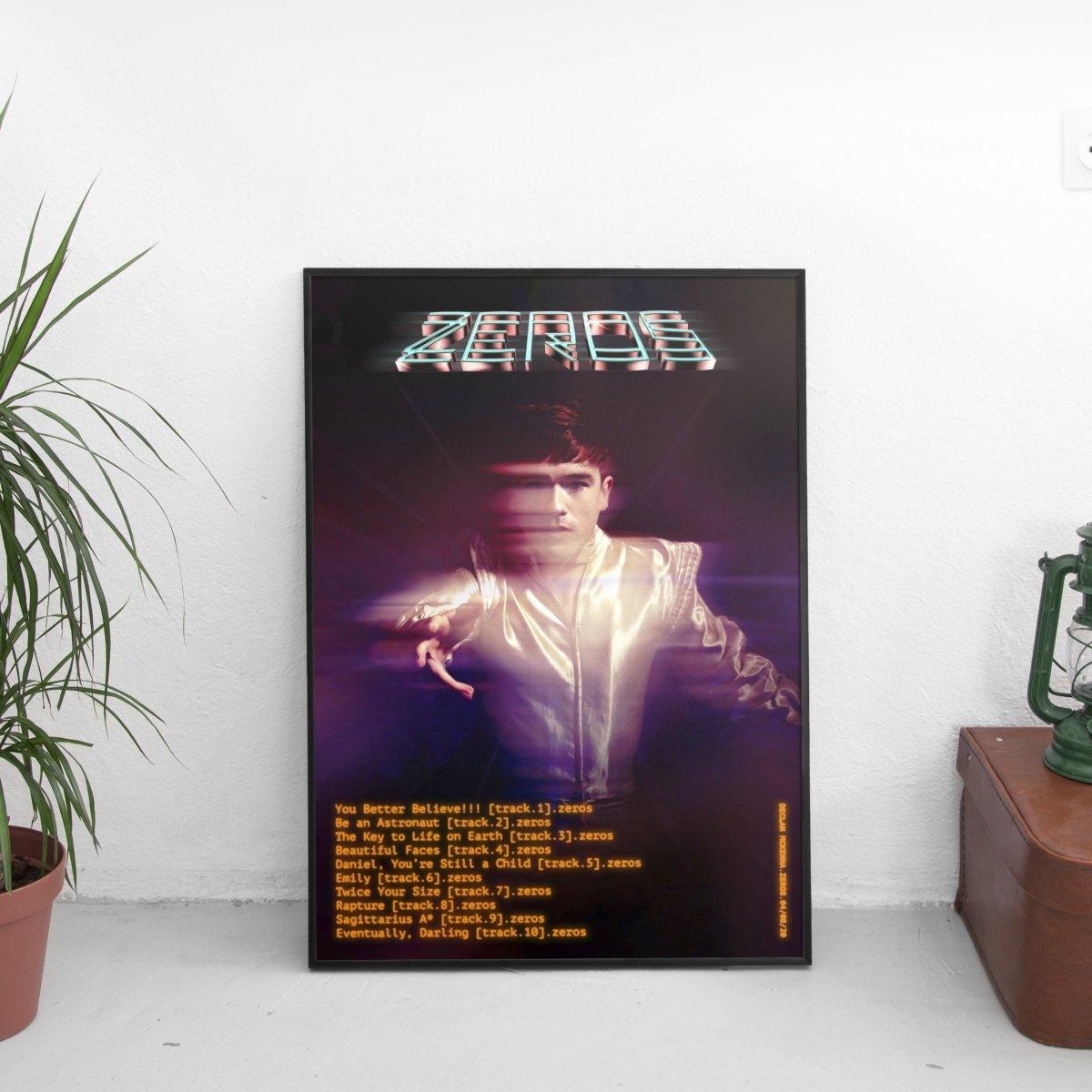 Declan Mckenna - Zeros Tracklist Poster