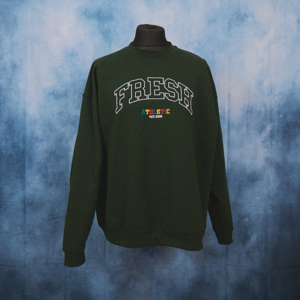 Fresh Athletic College Unisex Embroidered Sweater