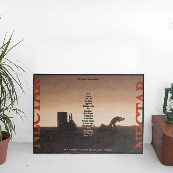 Joji - Nectar Landscape Tracklist Poster
