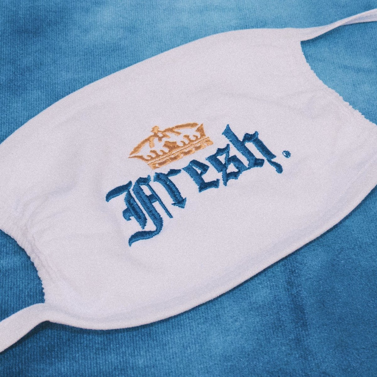 Fresh Light Embroidered Face Covering