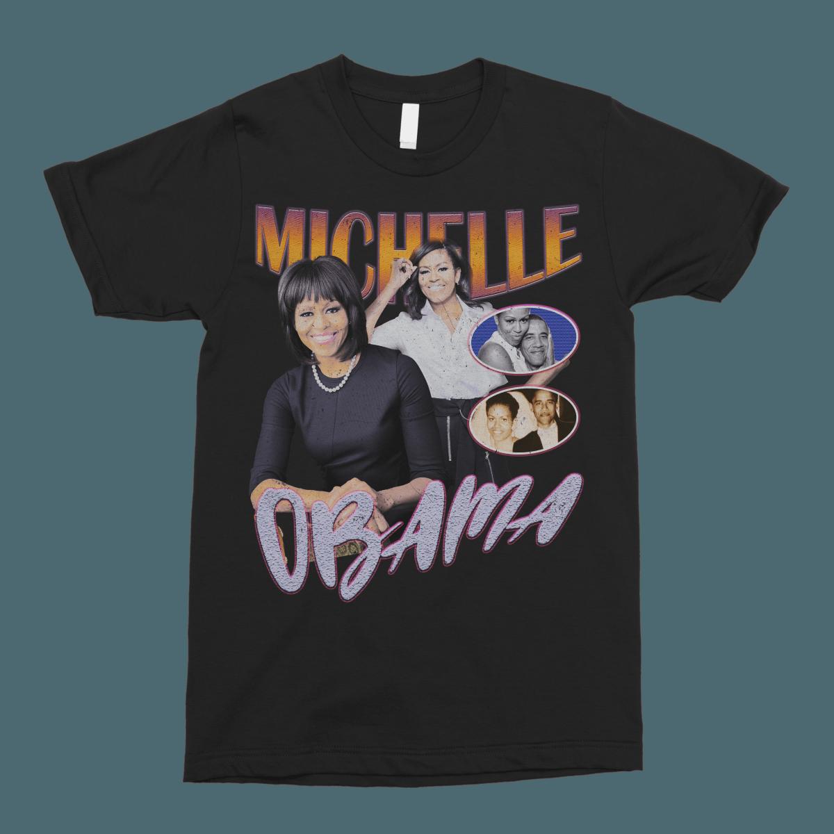 Michelle Obama Vintage Bootleg Unisex T-Shirt