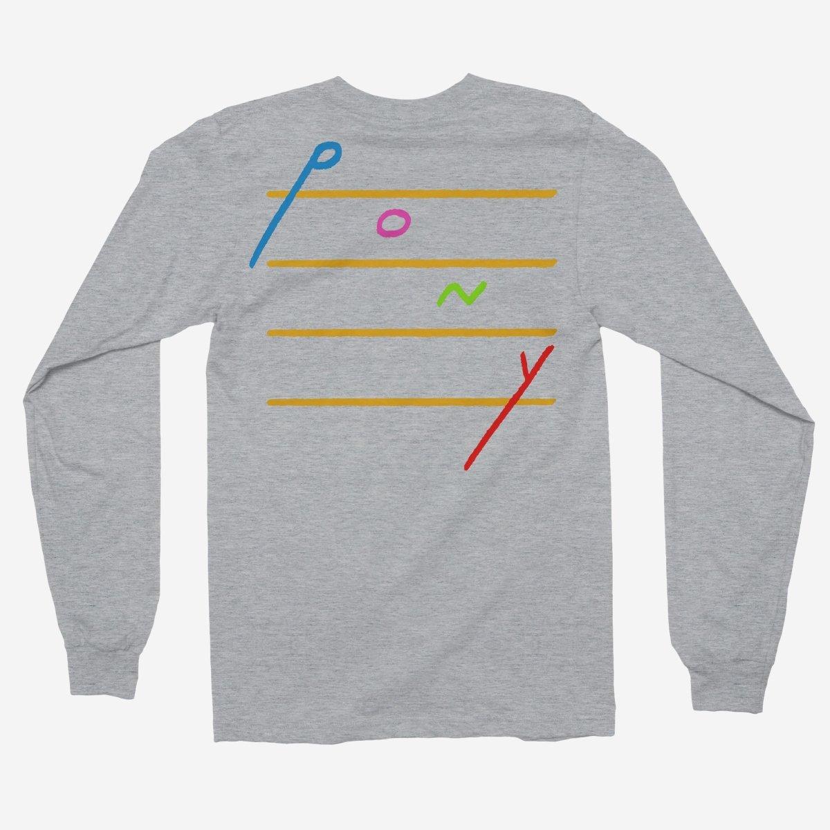 Rex Orange County - Pony Cascading Notes Unisex Long Sleeve T-Shirt