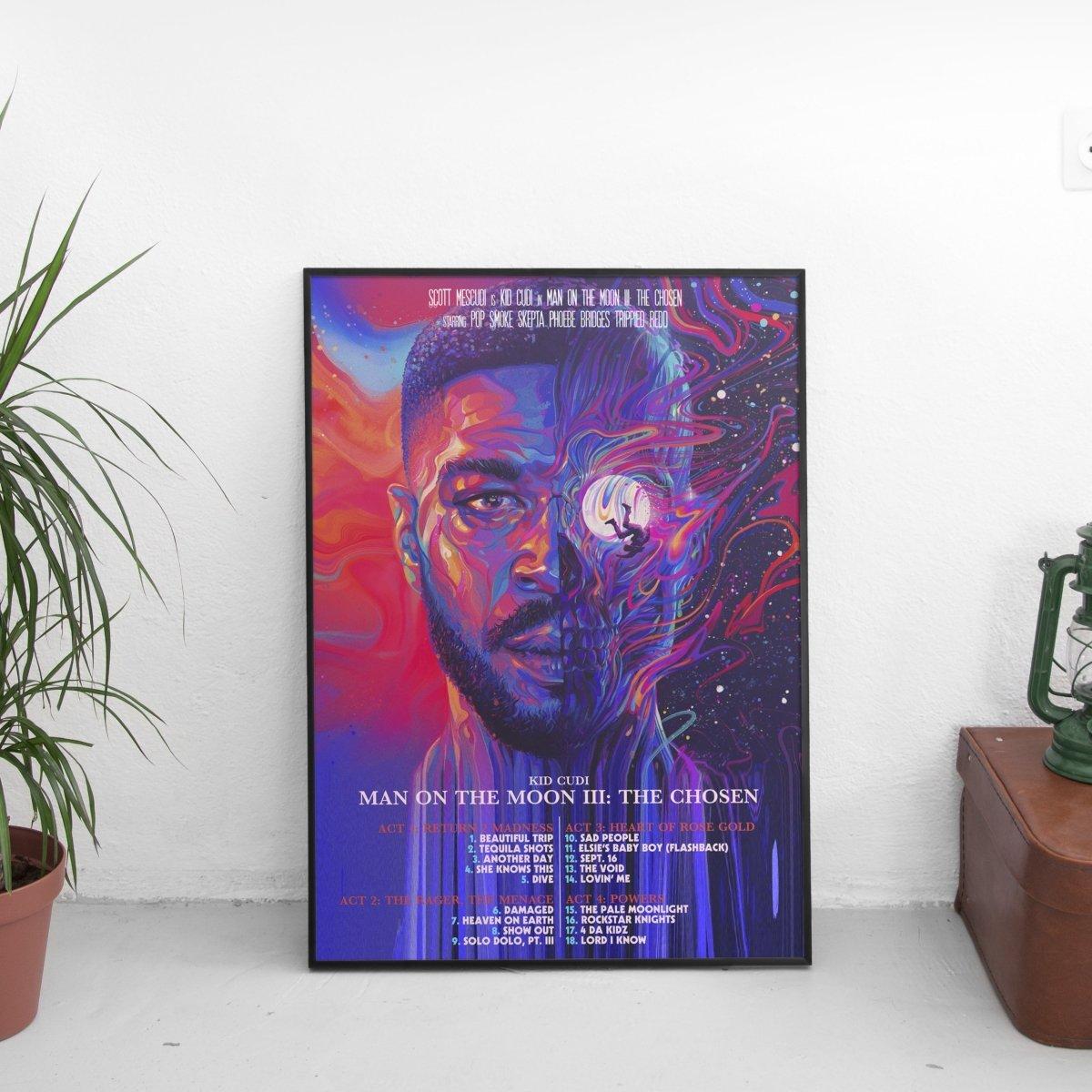 Kid Cudi - Man On The Moon III Tracklist Movie Poster