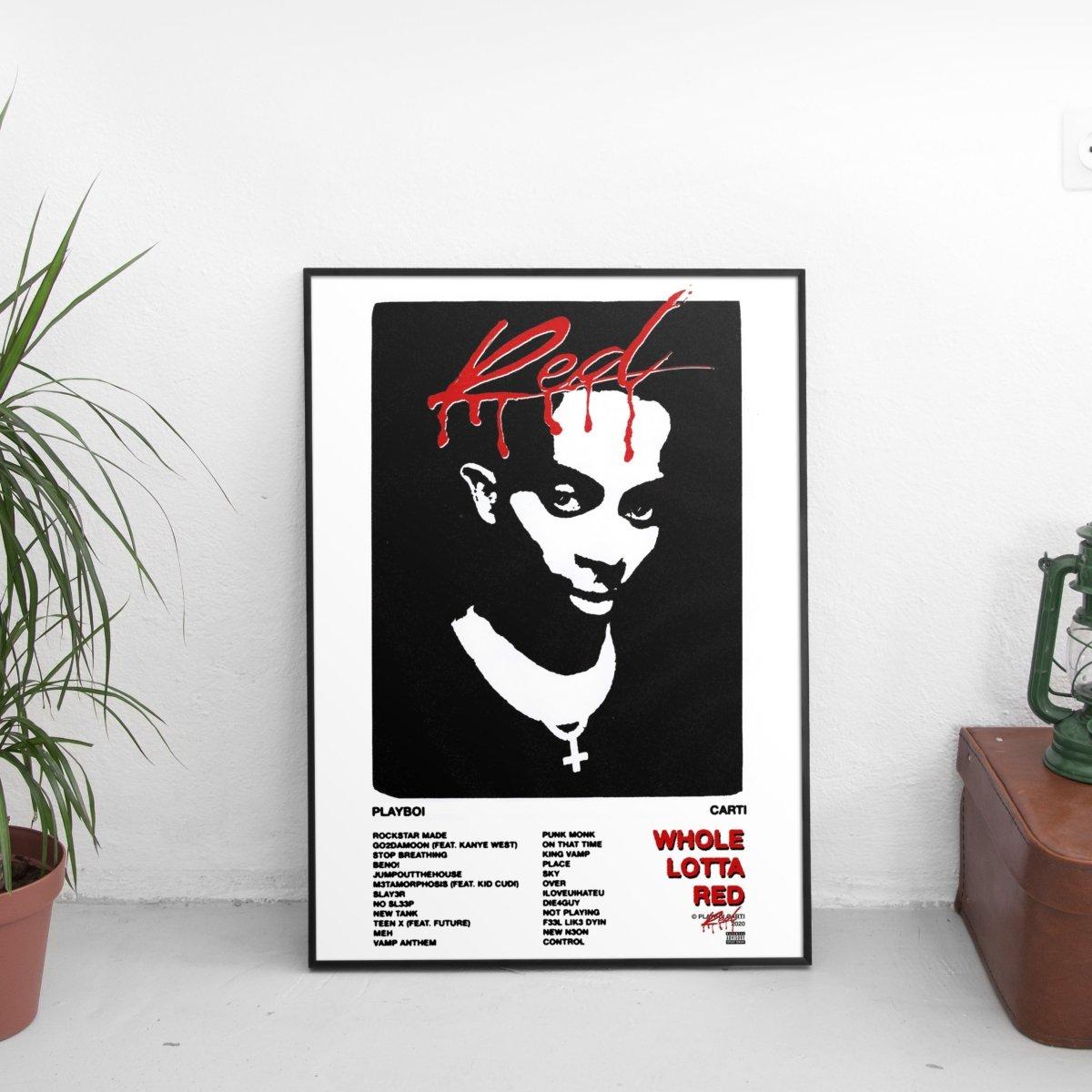 Playboi Carti - Whole Lotta Red Tracklist Poster