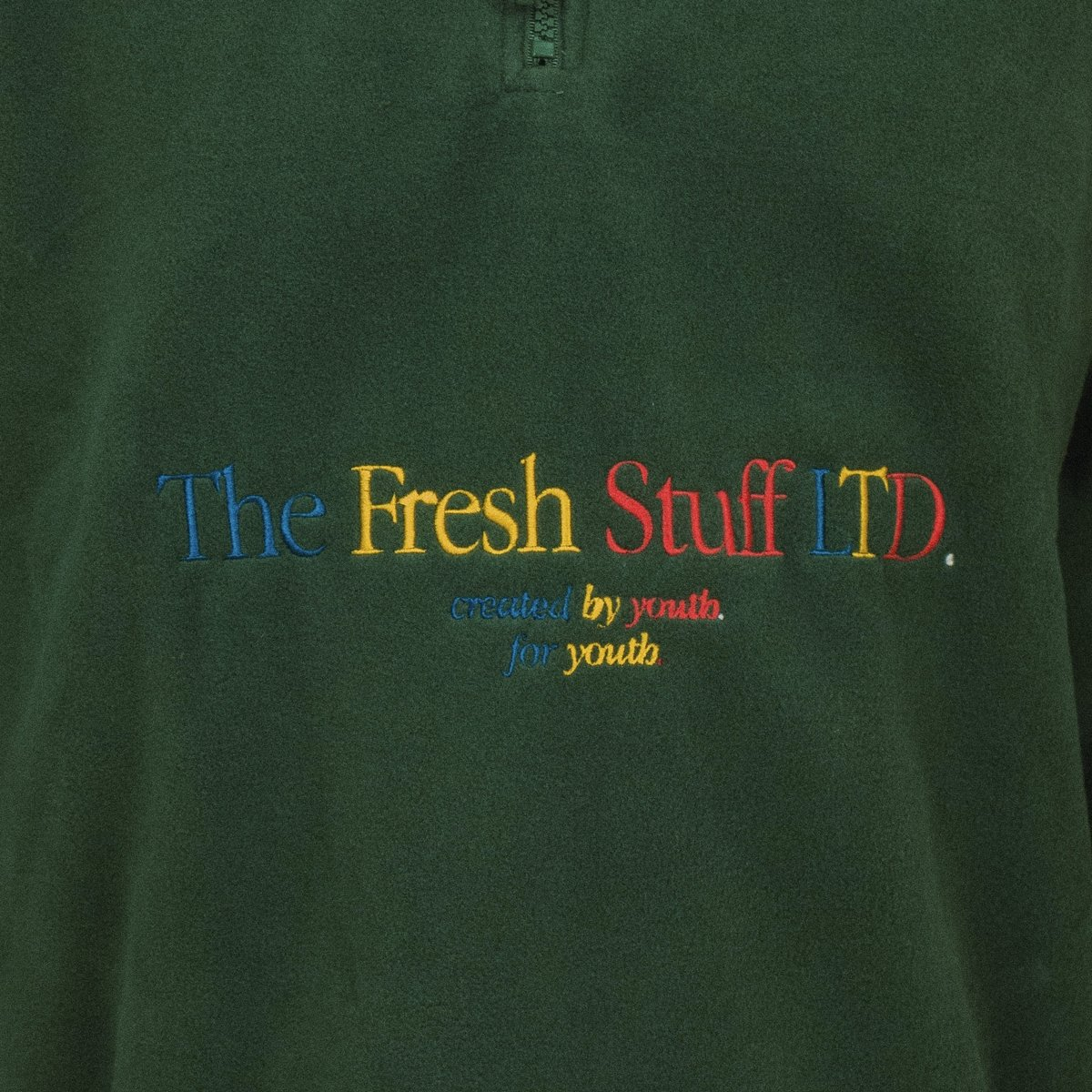 The Fresh Stuff LTD Unisex Embroidered Green Fleece