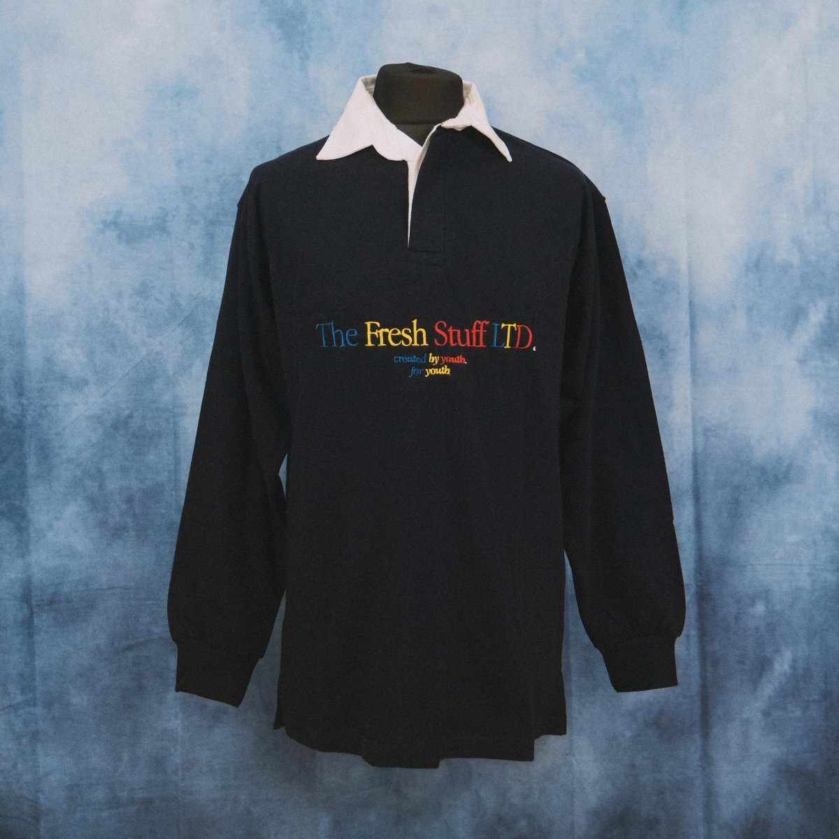 The Fresh Stuff LTD Unisex Embroidered Navy Rugby Shirt