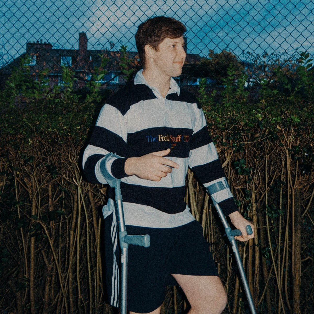 The Fresh Stuff LTD Unisex Embroidered Striped Navy/White Rugby Shirt
