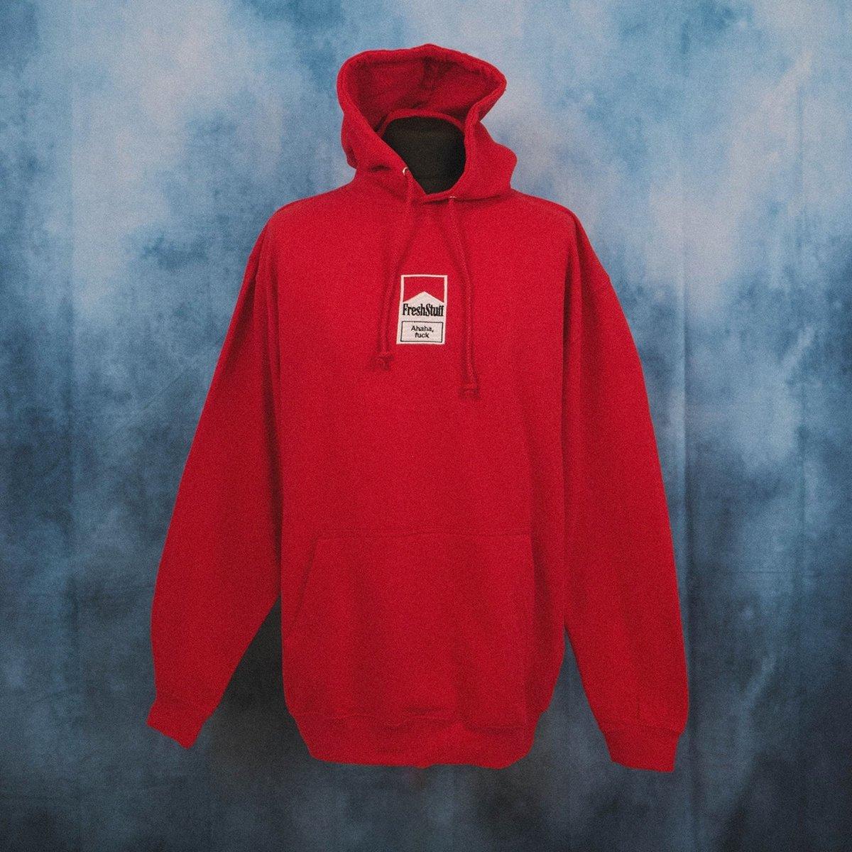 FreshStuff Smokers Unisex Red Embroidered Hoodie