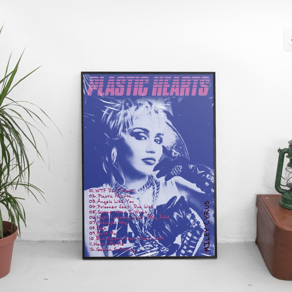 Miley Cyrus - Plastic Hearts Tracklist Poster