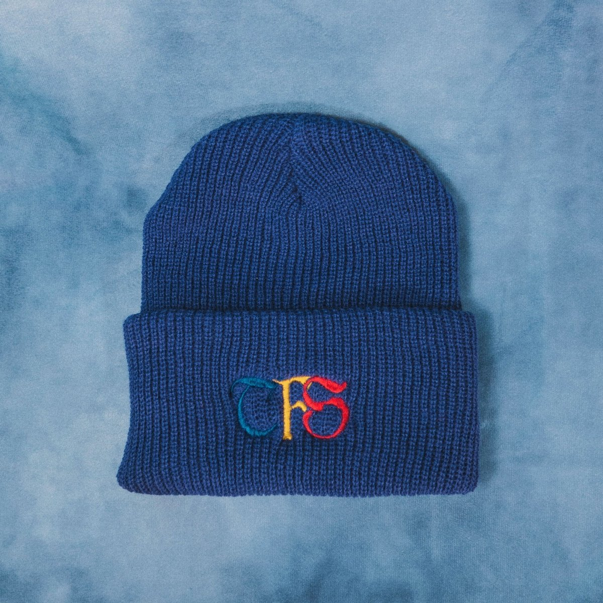 TFS Ancient Embroidered Blue Beanie