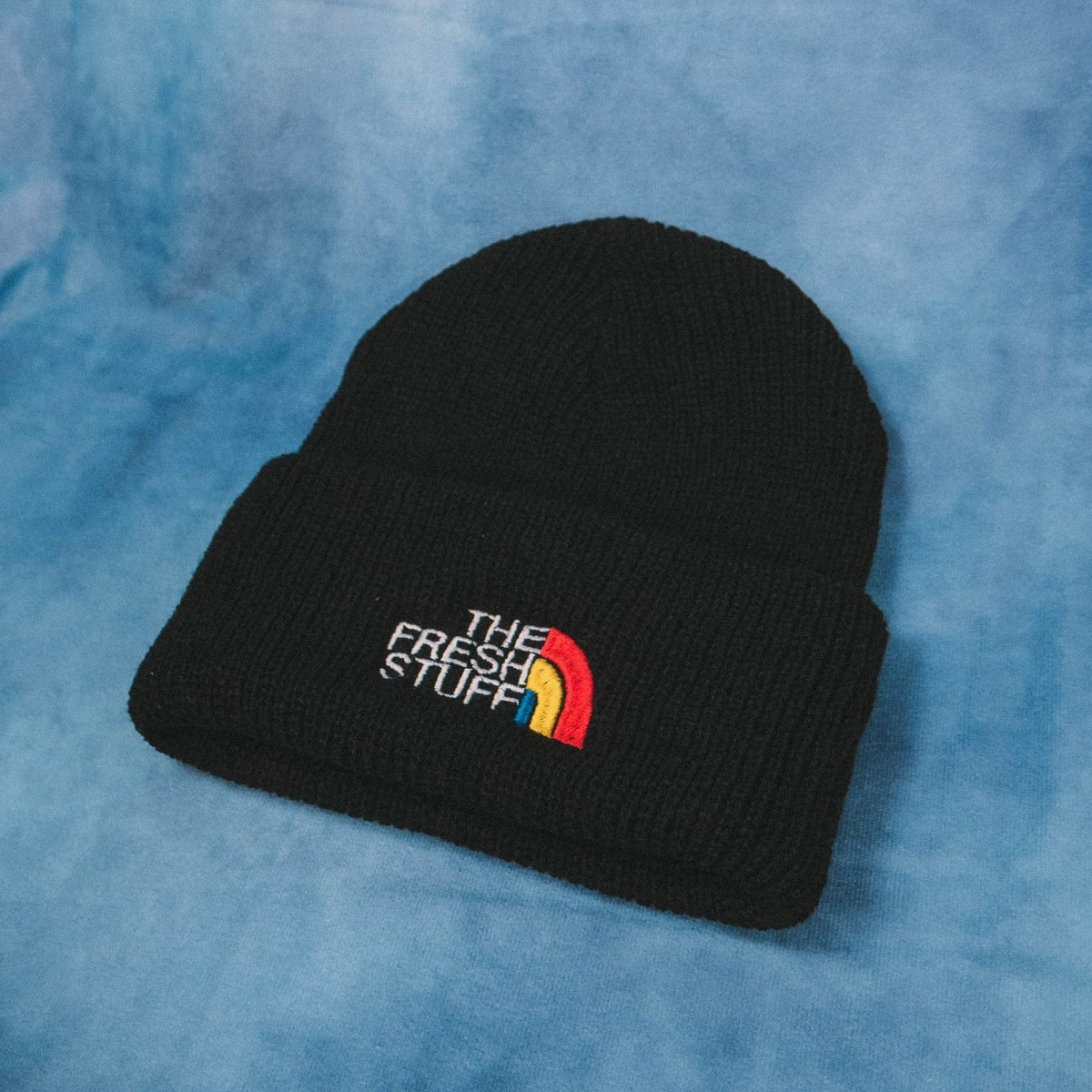 The Fresh Stuff Expedition Embroidered Black Beanie
