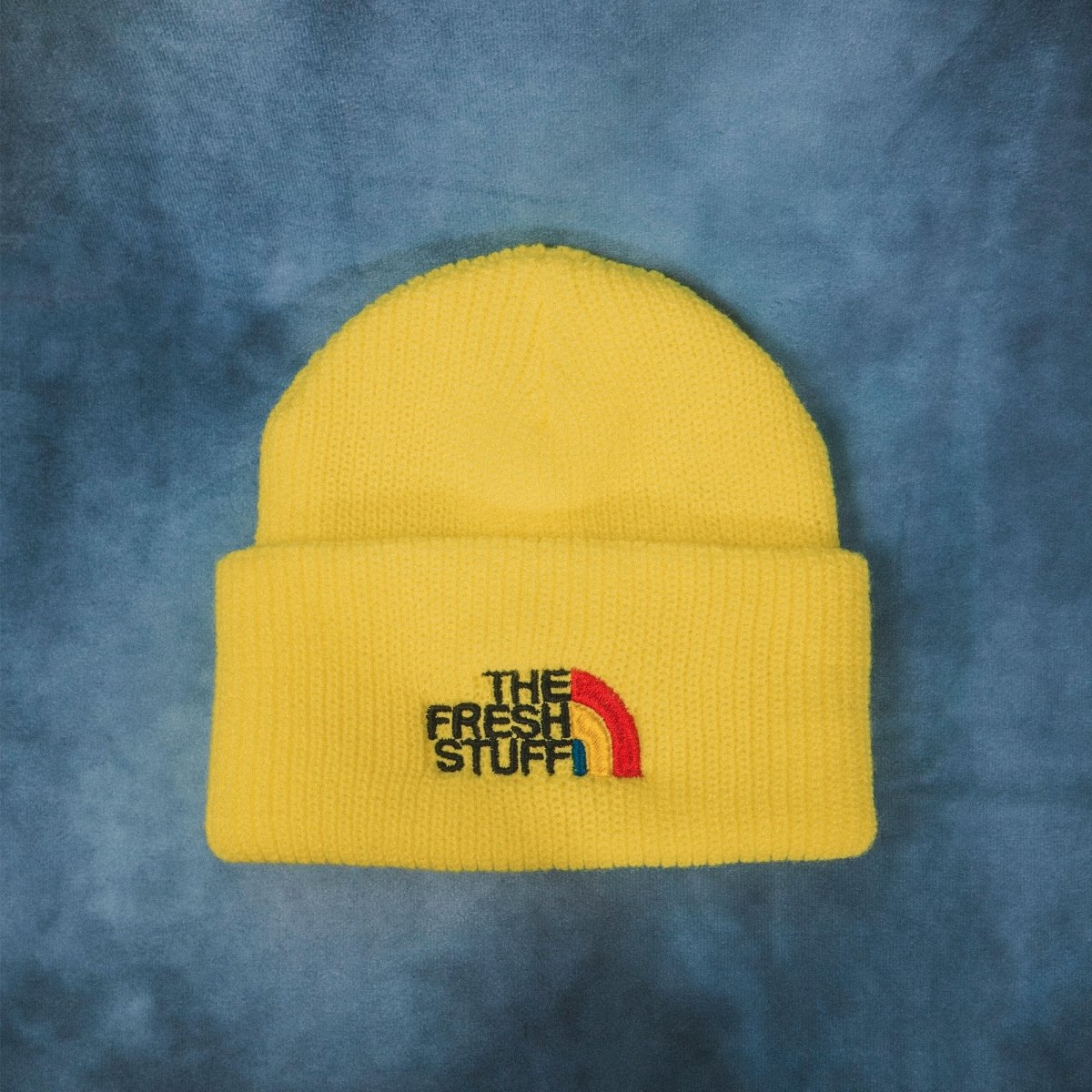 The Fresh Stuff Expedition Embroidered Neon Yellow Beanie