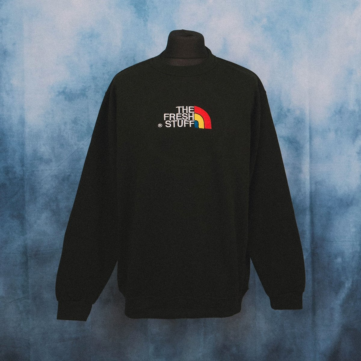 The Fresh Stuff Expedition Unisex Black Embroidered Sweater