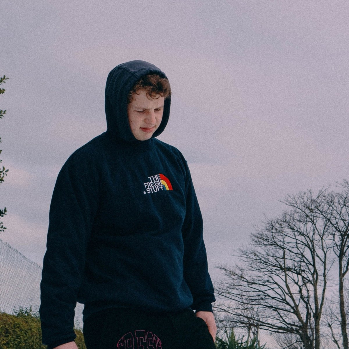 The Fresh Stuff Expedition Unisex Navy Embroidered Sweater