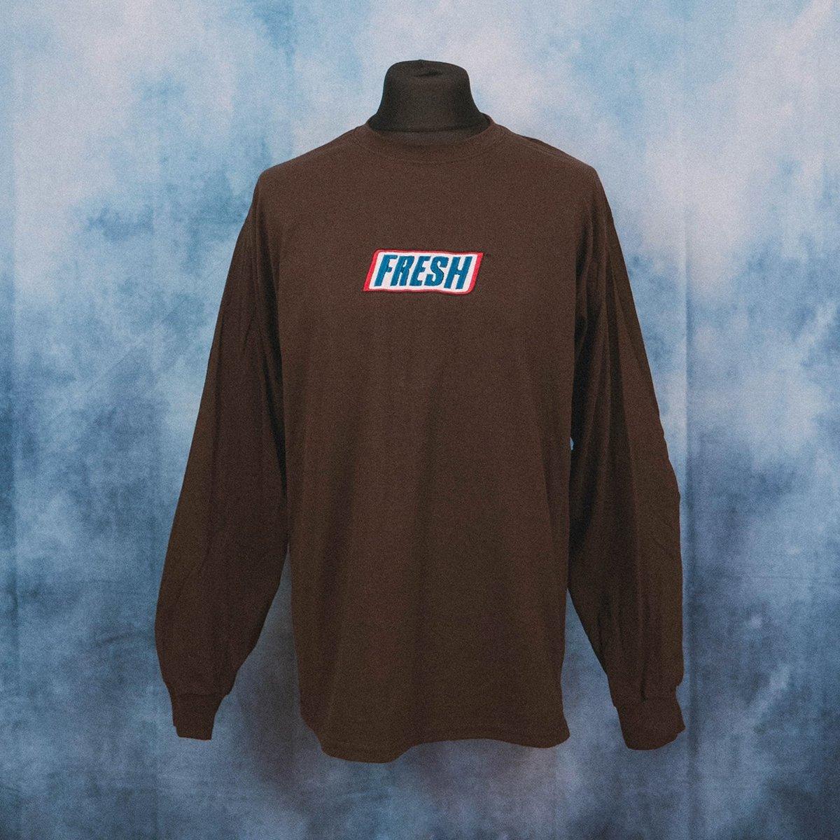 Fresh Chocolate Logo Unisex Embroidered Long Sleeve T-Shirt