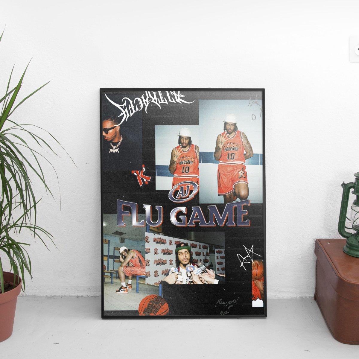 AJ Tracey - Retro Flu Game Mismatch Poster