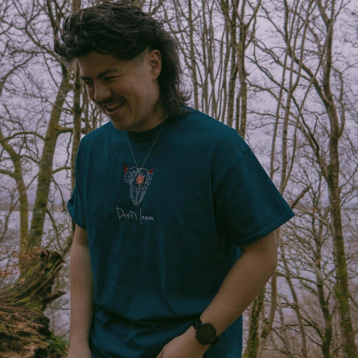 Devil's Lettuce Teal Unisex Embroidered T-Shirt