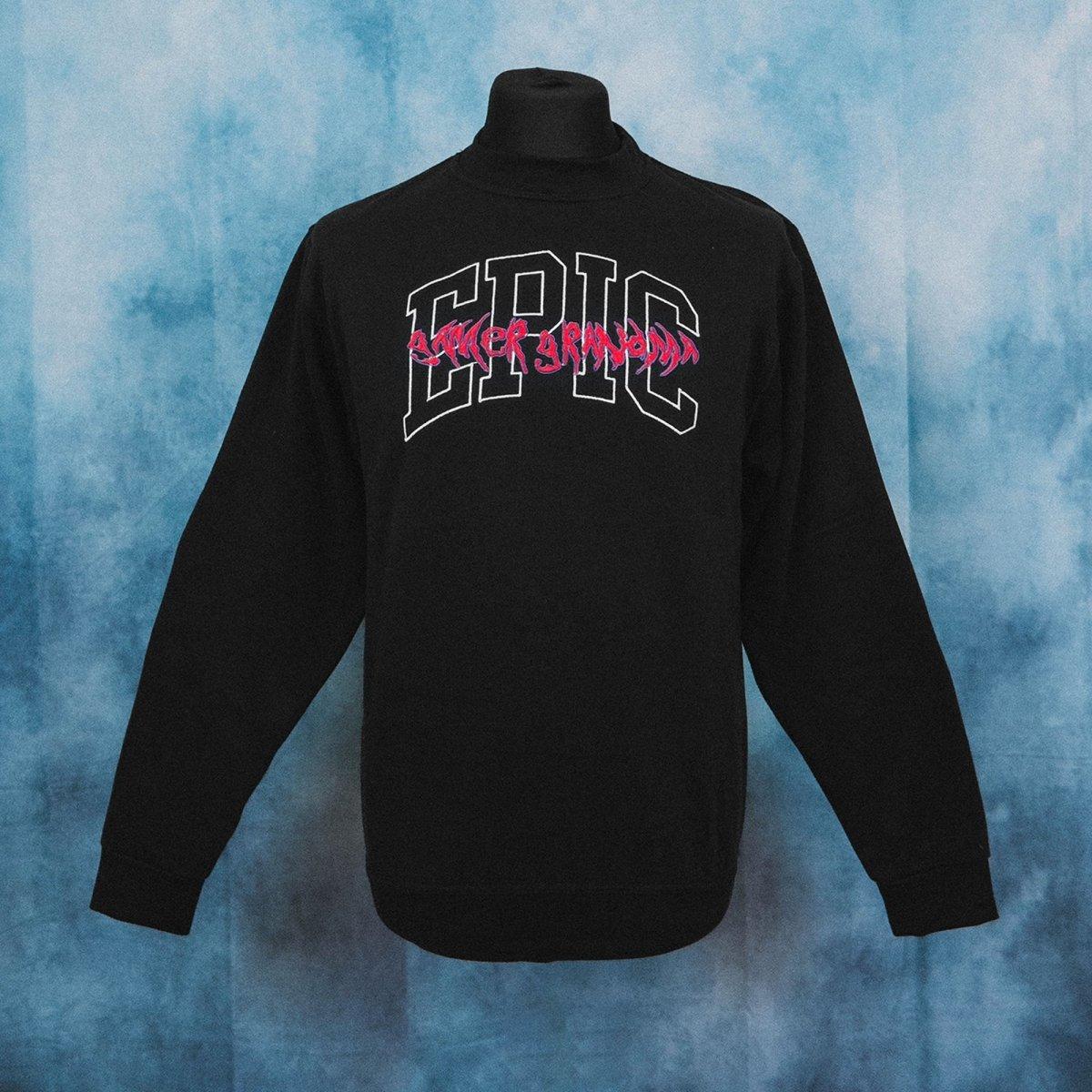 Epic Gamer Grandma - College Black Unisex Embroidered Sweater