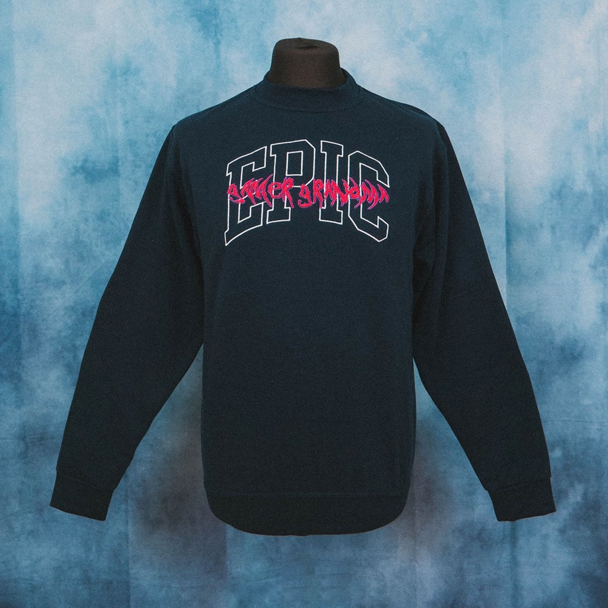 Epic Gamer Grandma - College Navy Unisex Embroidered Sweater