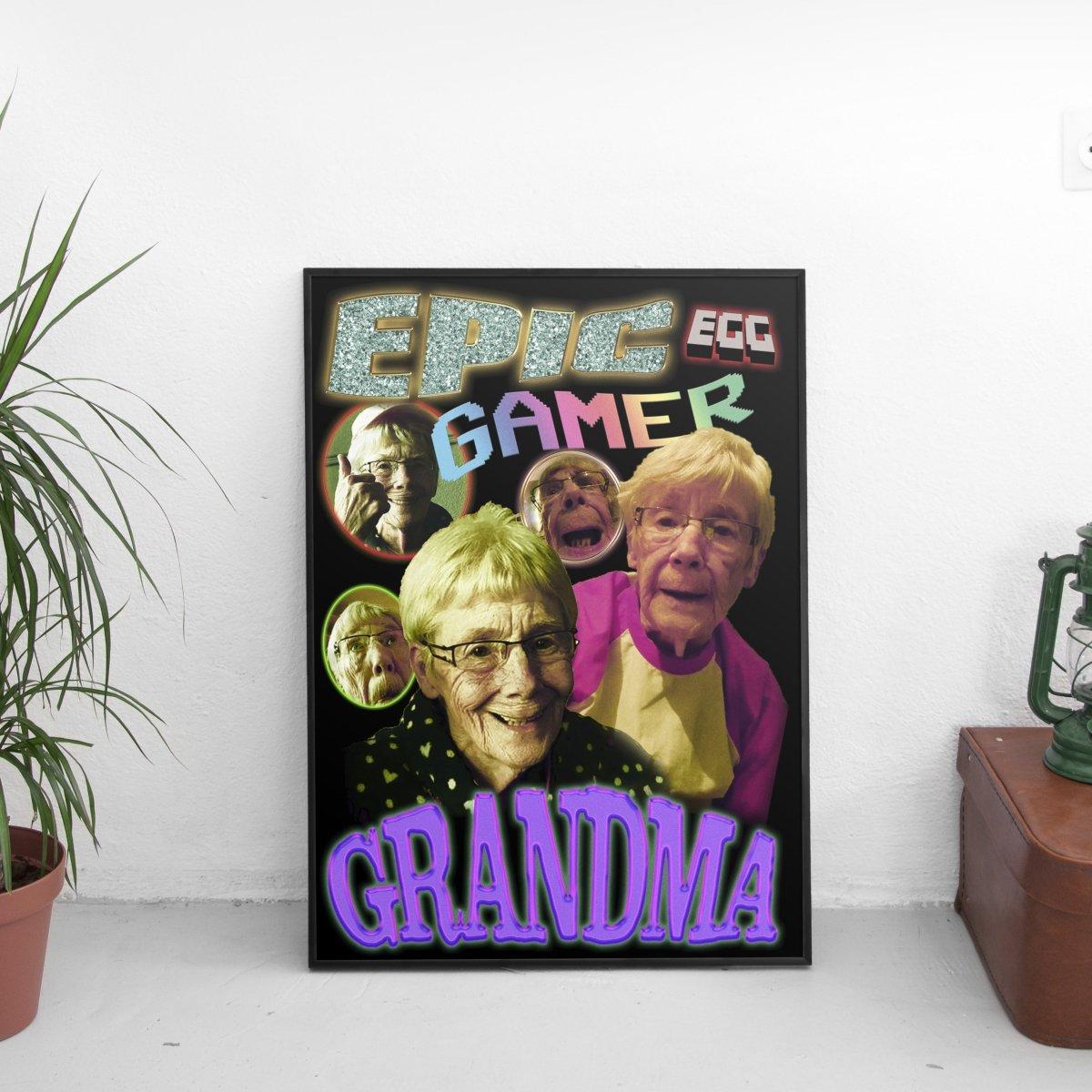 Epic Gamer Grandma - Vintage Poster