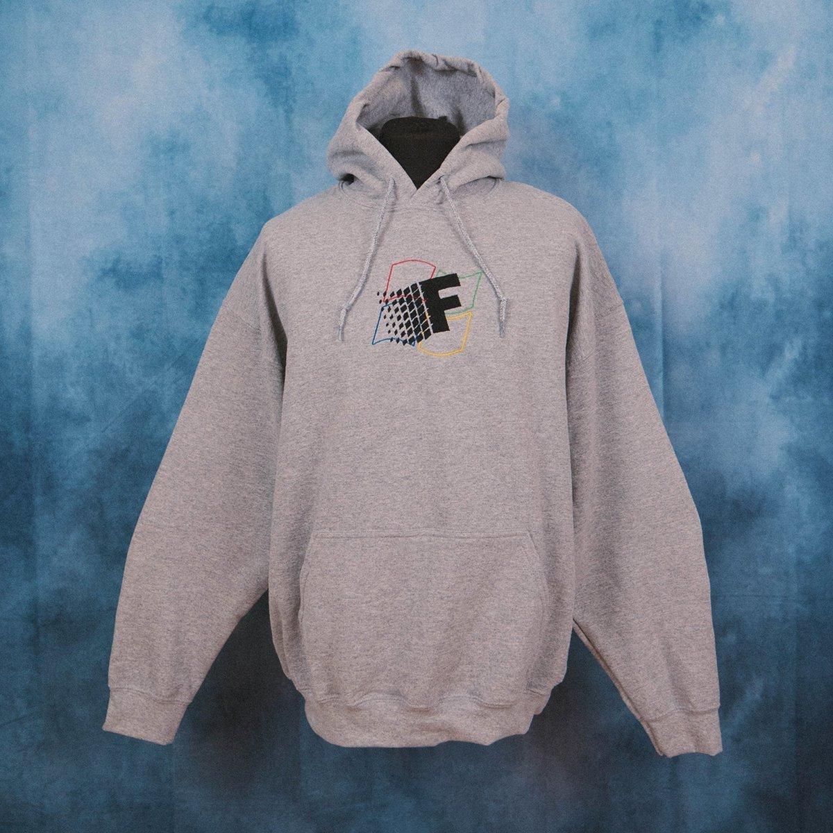 Fresh Vista Grey Unisex Embroidered Hoodie