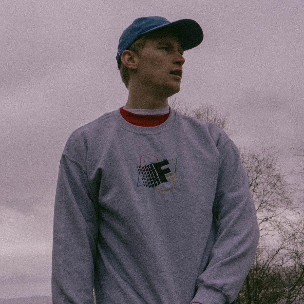 Fresh Vista Grey Unisex Embroidered Sweater