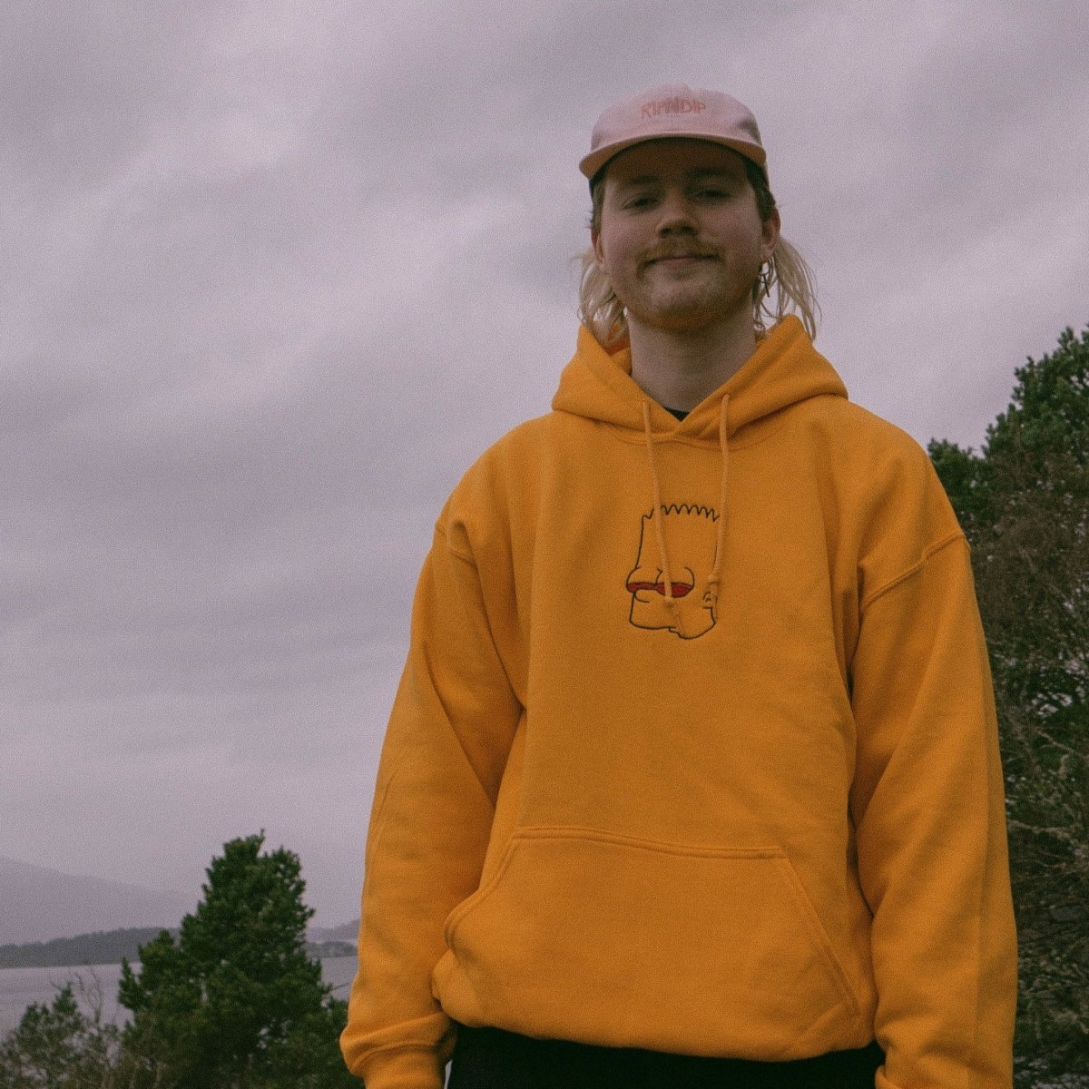 High Bart Yellow Unisex Embroidered Hoodie