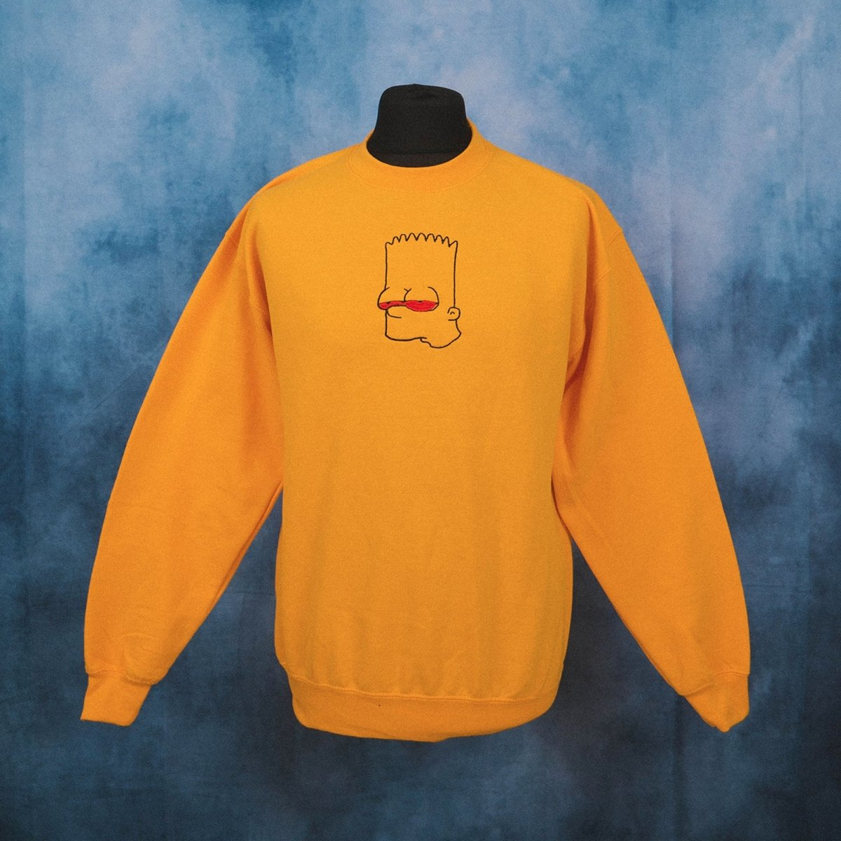High Bart Yellow Unisex Embroidered Sweater