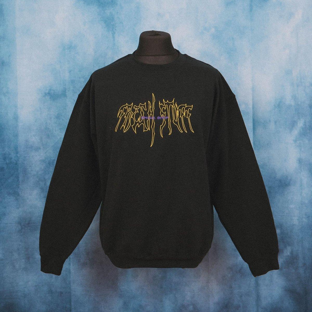 Smoke Shop Black Unisex Embroidered Sweater