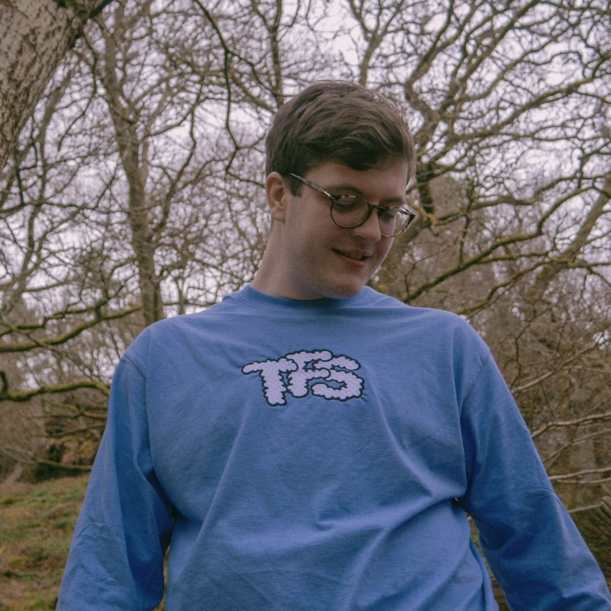 TFS Clouds Light Blue Unisex Embroidered Long Sleeve T-Shirt